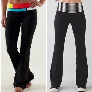 lululemon Reversible Groove Pants Black/White